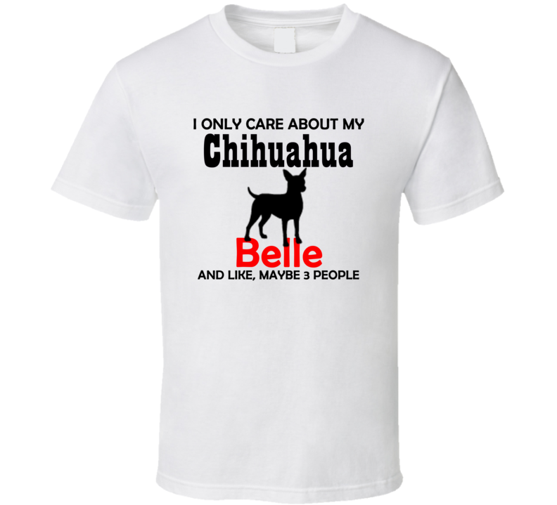 Chihuahua T Shirt Custom with Dog's Name - Original James Tee