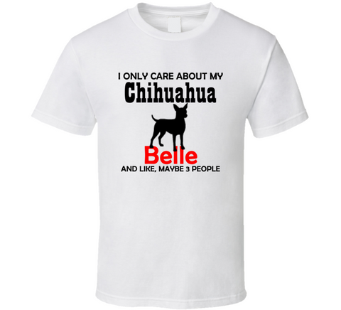 Chihuahua T Shirt Custom with Dog's Name