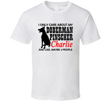 I Love my Doberman T Shirt - Original James Tee