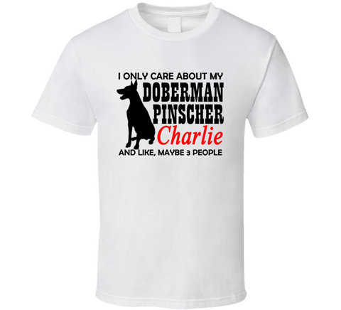 I Love my Doberman T Shirt - Original James Tee  - 1