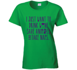 Drink Wine Save Animals and Take Naps T shirt - Original James Tee