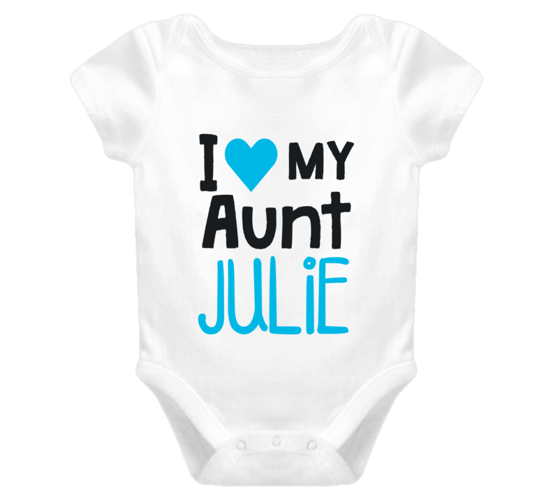 I Love My Aunt Personalized Baby One Piece - Original James Tee