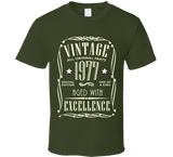 1977 T Shirt birthday milestone gift 40 years old celebrate - Original James Tee