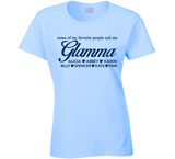 Glamma with grandkids names on it T Shirt