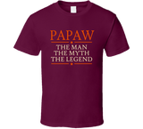 Papaw the Man the Myth the Legend T Shirt - Original James Tee  - 5