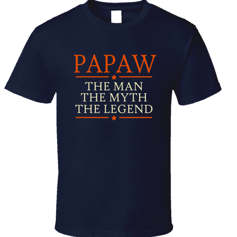 Papaw the Man the Myth the Legend T Shirt - Original James Tee  - 1