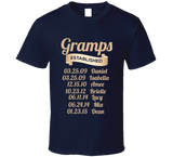Gramps Established Grandfather Since T Shirt Gift with names - Original James Tee  - 5