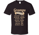 Gramps Established Grandfather Since T Shirt Gift with names - Original James Tee  - 3
