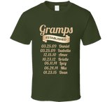 Gramps Established Grandfather Since T Shirt Gift with names - Original James Tee  - 4