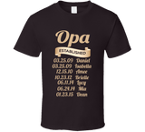 Opa Established Grandfather Since T Shirt Gift with names - Original James Tee  - 4