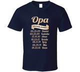 Opa Established Grandfather Since T Shirt Gift with names - Original James Tee  - 1