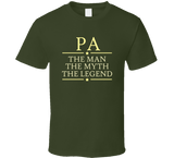 Pa the Man the Myth the Legend T Shirt - Original James Tee  - 4