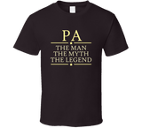 Pa the Man the Myth the Legend T Shirt - Original James Tee  - 3