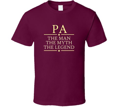 Pa the Man the Myth the Legend T Shirt - Original James Tee  - 1