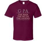 G-Pa the Man the Myth the Legend T Shirt - Original James Tee  - 3