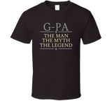 G-Pa the Man the Myth the Legend T Shirt - Original James Tee  - 4