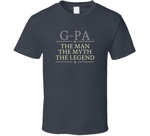 G-Pa the Man the Myth the Legend T Shirt - Original James Tee