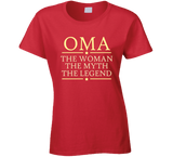 Oma the Woman the Myth the Legend T Shirt - Original James Tee  - 4