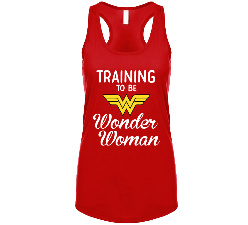 Training To Be Wonder Woman Funny Tank Top or T Shirt - Original James Tee