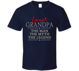 Great Grandpa the Man the Myth the Legend T Shirt - Original James Tee  - 4