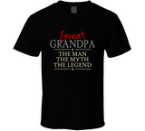 Great Grandpa the Man the Myth the Legend T Shirt - Original James Tee  - 1