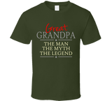 Great Grandpa the Man the Myth the Legend T Shirt - Original James Tee