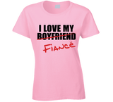 I Love My Fiancé T Shirt Ladies - Original James Tee  - 4