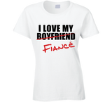 I Love My Fiancé T Shirt Ladies - Original James Tee  - 2