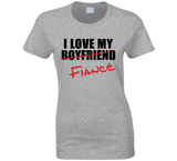 I Love My Fiancé T Shirt Ladies - Original James Tee  - 1