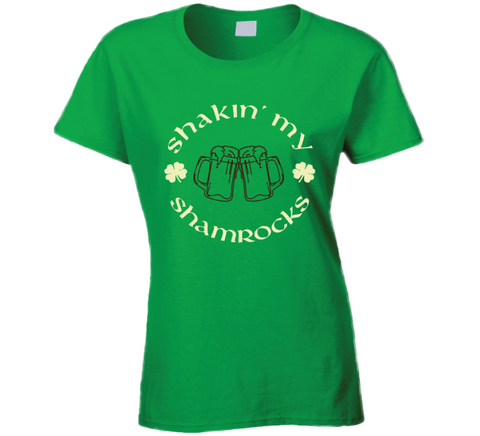 Shakin My Shamrocks Funnt Irish Green St. Patrick's Day Party T Shirt - Original James Tee  - 1