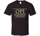 Opi T Shirt with Grandkid's Names - Original James Tee