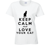 Keep Calm and Love Your Cat T Shirt - Original James Tee