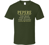 Pepere The Man The Myth The Legend T Shirt - Original James Tee