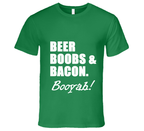 Beer Boobs Bacon T Shirt - Original James Tee