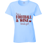 Football and Wine Kinda Girl T Shirt - Original James Tee  - 5