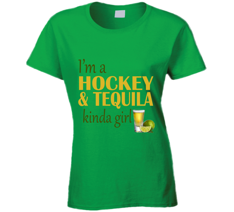 I'm a Hockey and Tequila Kinda Girl T shirt - Original James Tee  - 1