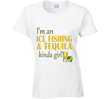 Ice Fishing and Tequila Kinda Girl T Shirt - Original James Tee  - 7