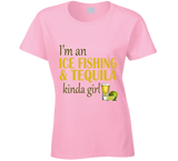 Ice Fishing and Tequila Kinda Girl T Shirt - Original James Tee  - 4