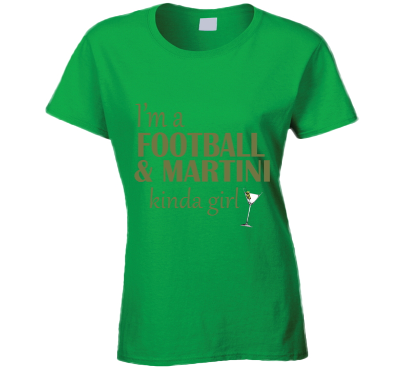 Football and Martini Kinda Girl T Shirt - Original James Tee  - 1