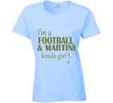 Football and Martini Kinda Girl T Shirt - Original James Tee  - 4