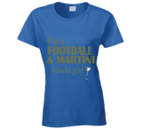Football and Martini Kinda Girl T Shirt - Original James Tee  - 6