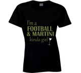 Football and Martini Kinda Girl T Shirt - Original James Tee  - 2