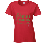 Football and Martini Kinda Girl T Shirt - Original James Tee  - 7