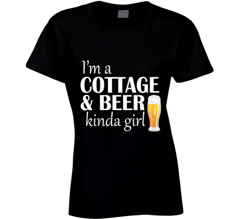 I'm a Cottage and Beer Ladies T Shirt - Original James Tee  - 1