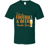 Football and Beer T Shirt - Original James Tee