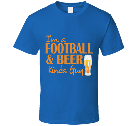 Football and Beer T Shirt - Original James Tee  - 1