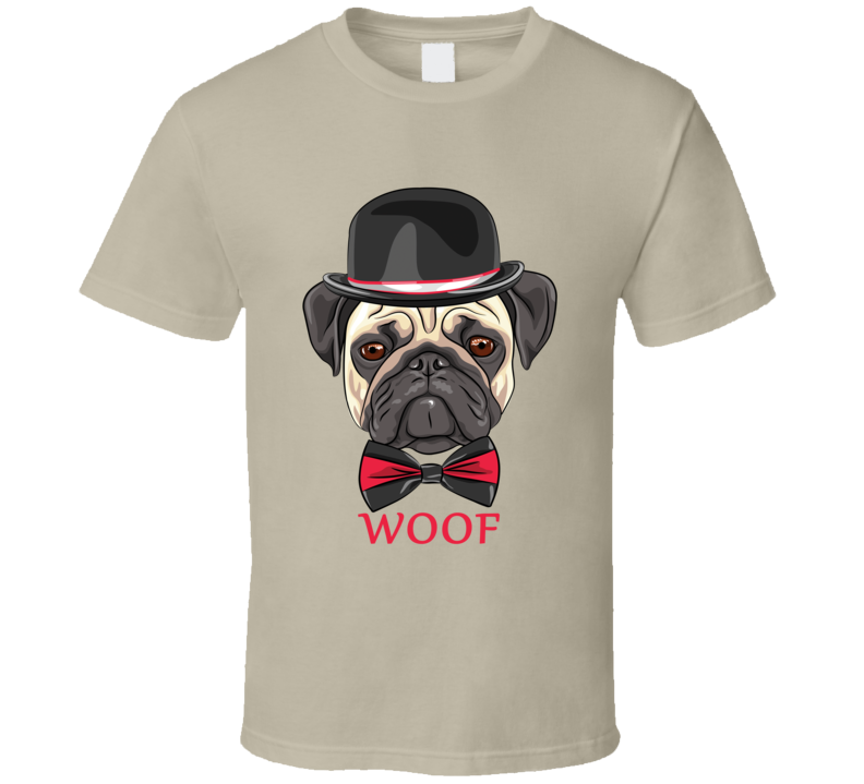 Hipster Pug T Shirt - Original James Tee