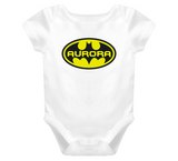 Batman Baby One Piece With Custom Name Baby One Piece personalized any name - Original James Tee  - 4