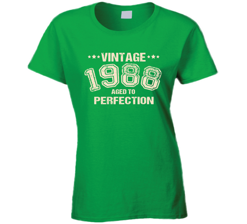 Vintage Year of Birth T Shirt Ladies - Original James Tee  - 1