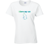 I Love My Cat T Shirt - Original James Tee